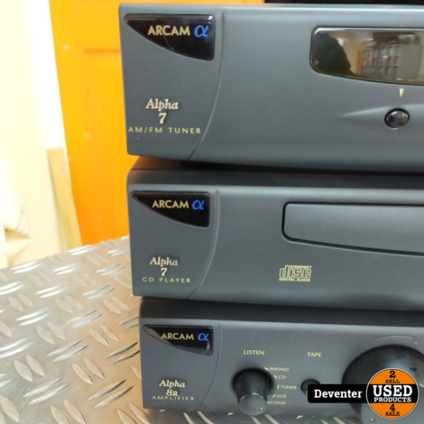 Arcam Alpha set (versterker, CD speler, Tuner) in zeer nette staat