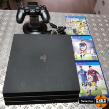 Playstation 4 Pro met controller, laadstation, 3 FiFa games