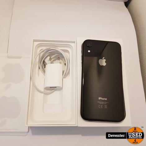 Apple iPhone Xr 128GB Zwart Nieuwstaat accu 91%