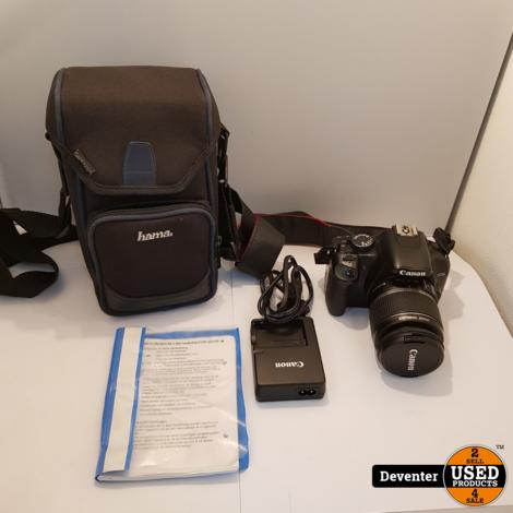 Canon EOS450D met EF-S 18-55 mm IS lens, SD, tas en lader