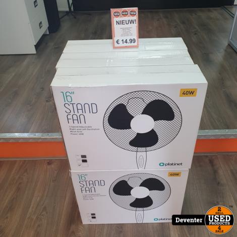 Ventilator 40 cm/ 3 standen/ 125 cm hoog NIEUW in doos