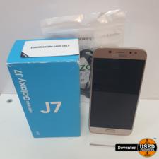 Samsung Galaxy J7 2017 Gold 16GB Zeer net met doos