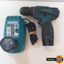 Makita DF330D 10.8 Volt met 2 accu's en lader