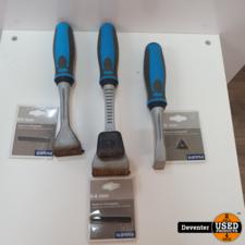 Gamma Professional schrapers 3 stuks met nieuwe mesjes