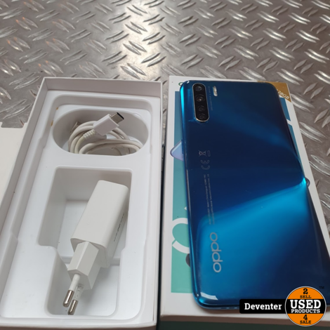 OPPO A91 Blue 128GB in nette staat in doos met garantie