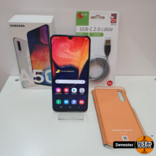 Samsung Galaxy A50 128GB Wit met hoes