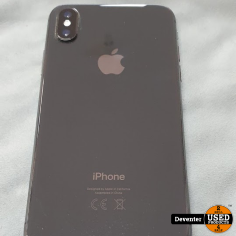 Apple iPhone X 64GB Zwart  Accu 84% nette staat