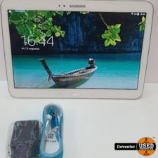 Samsung Galaxy Tab 3 10.1 Wit met nieuwe lader