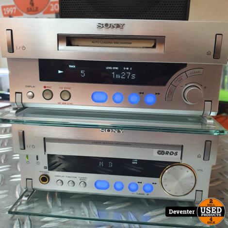 Sony HCD-SD1 reciever met MDS-SD1 Minidisc recorder/player
