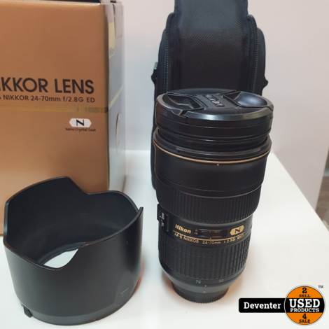 Nikon 24-70mm f/2.8G ED met tas, doos en handleiding