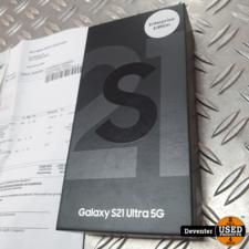 Samsung Samsung Galaxy S21 Ultra 5G 128GB Nieuw met bon 30-08