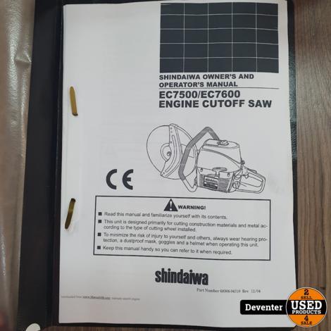 Shindaiwa ec7600 3.3 Kw bandenzaag gereviseerd Met garantie