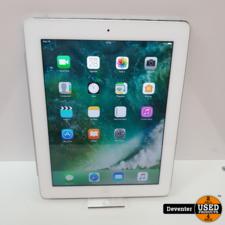 Apple iPad 4 16GB Retina Wit I Zeer net met garantie