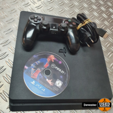 Playstation 4 slim 500GB met 1 controller en Fifa 21