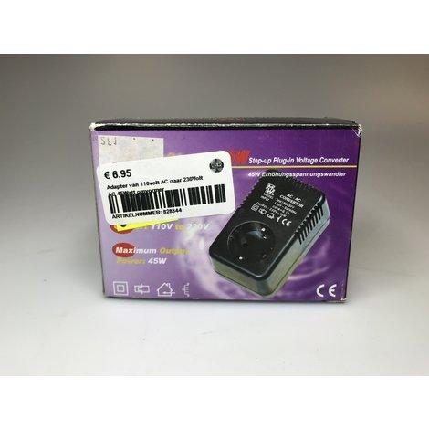 Adapter van 110volt AC naar 230Volt AC 45Watt omvormer | Nieuw