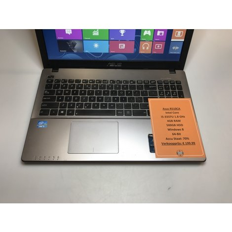 Asus R510CA-XX187H | Intel 1.8GHz | 4GB RAM | 500GB HDD | Win8 64-Bit | Met garantie