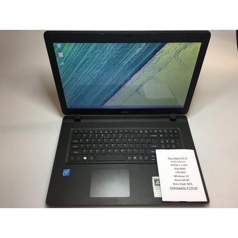 Acer Aspire ES1-732-C8E0 Laptop    Intel 1.1GHz   4GB RAM   1TB HDD   Win 10 Home 64-Bit   Met garantie