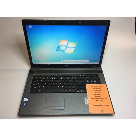 Acer Asspire 7739Z | Mist F3 Toets | Intel 2.1GHz | 8GB RAM | 640GB HDD | Win7 Home Premium 64-Bit | Met garantie