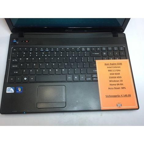 Acer Aspire 5336 15inch Laptop || Intel Celeron | 256GB HDD | 2.2GHz | 2GB RAM | Windows 7 Home || Met garantie