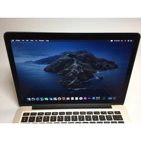 Apple Macbook Pro Retina 13inch Mid 2014 | Laad cycli 102 | Intel 2.6GHz | 8GB RAM | 256GB SSD | MacOS 10.15 Catalina | Met garantie