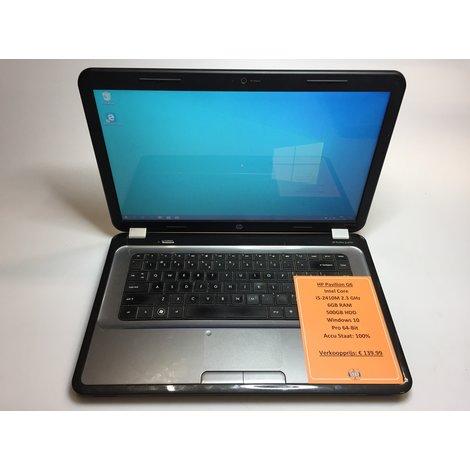 HP Pavilion G6 | Intel 2.3GHz | 6GB RAM | 500GB HDD | Win10 Pro 64-Bit | Met garantie