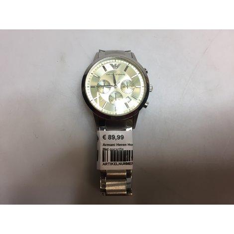 Armani Heren Horloge Steel / Staal | In nette staat | Met garantie