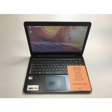 Asus R417B Laptop | AMD 3.0GHz | 8GB RAM | 128GB SSD | Win10 Home 64-Bit | Met garantie