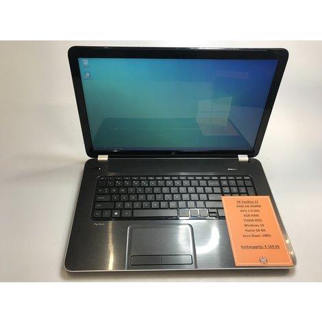 HP Pavilion 17 Laptop   AMD 1.9GHz   8GB RAM   750GB HDD   Win10 Home 64-Bit   Met garantie