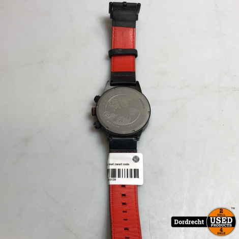 Alpha sierra horloge met zwart rode band || Met garantie