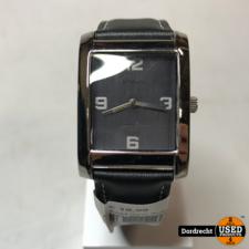 Auriol Heren Horloge zwarte leren band | Met garantie