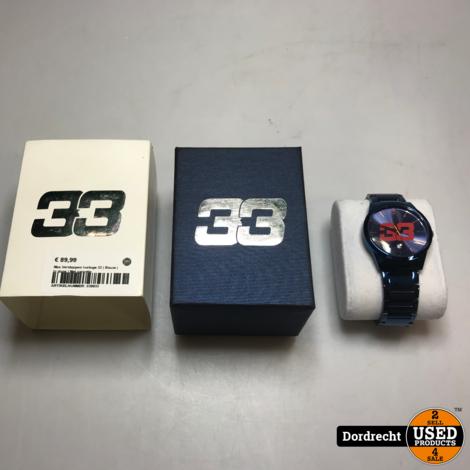 Max Verstappen Hhorloge 33   Blauw   In doos   Met garantie