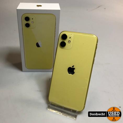 iPhone 11 256GB Yellow Geel | Nieuwstaat | Met garantie