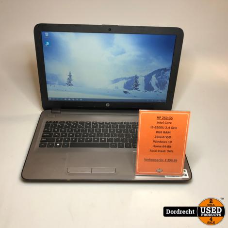 HP 250 G5 laptop | Intel 2.4GHz | 8GB RAM | 256GB SSD | Win10 Home 64-Bit | Met garantie