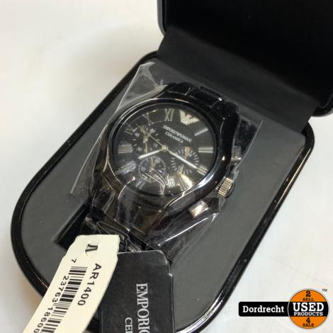 Armani Horloge Zwart | Nieuw in doos | Met garantie