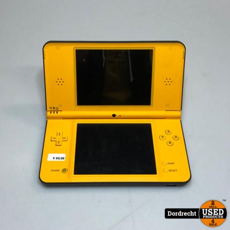 Nintendo DS XL Geel   Met lader   Met garantie