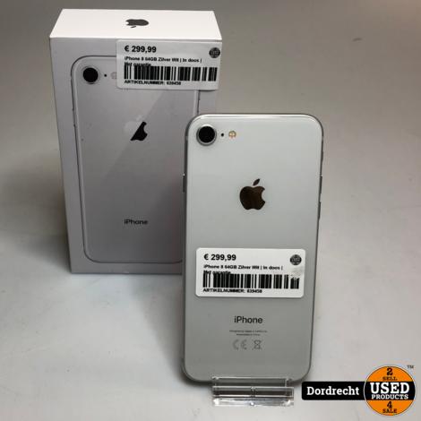 iPhone 8 64GB Zilver Wit | In doos | Met garantie