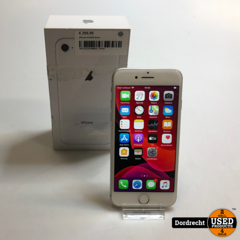 iPhone 8 64GB   Zilver/Silver   In doos   Met garantie