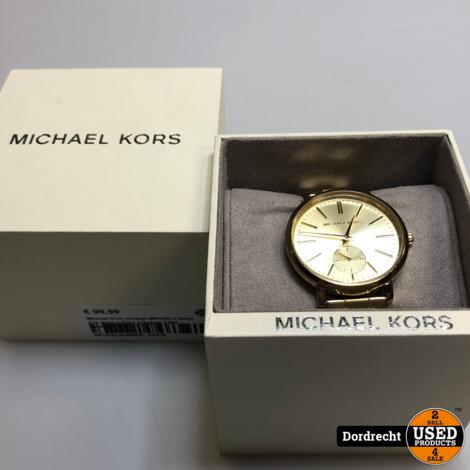 Michael Kors horloge MK3500 || Goud || In doos || Extra schakels || Met garantie