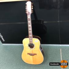 Crafter / D24-12 Natural Acoustic Guitar || Met hoes || Met garantie