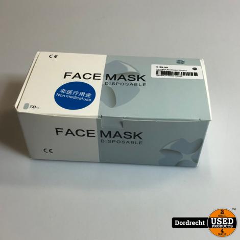 Face Mask Mondkapjes 50stuks | NIEUW in doos