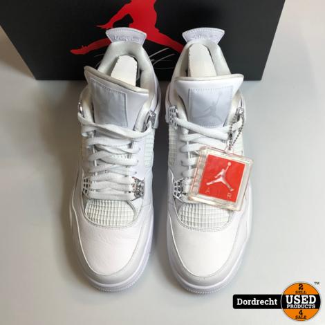 Jordan 4 Retro Pure Money (2017) White Metallic Silver Maat 45 / 11