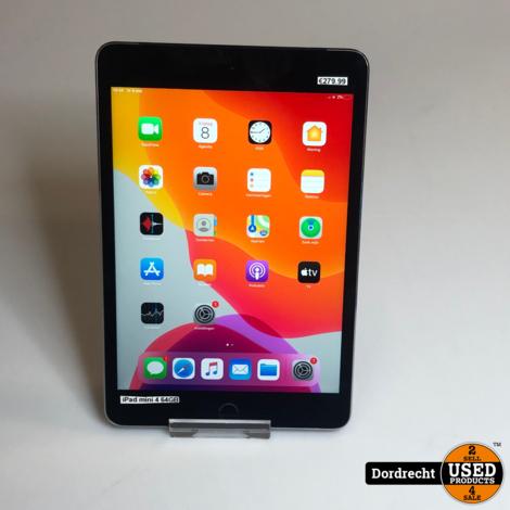 iPad mini 4 64GB Wi-Fi + Cellular || Space Gray || Met garantie