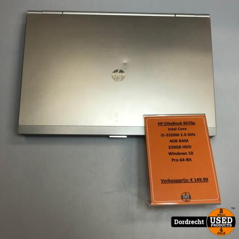 HP Elitebook 8470p | Intel 2.6GHz | 4GB RAM | 320GH HDD | Win10 Pro 64-Bit | Met garantie
