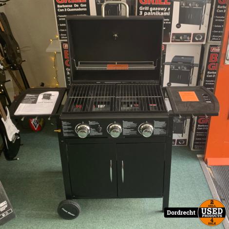 Flame Master Gas BBQ barbecue Grill / Buitenkeuken || 3 Pits || In doos || Met garantie