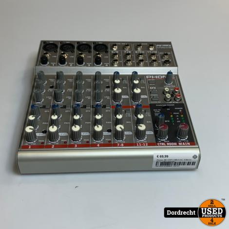 Phonic AM 125FX 4-Mic/Line, 4-Stereo Mixer || Met garantie