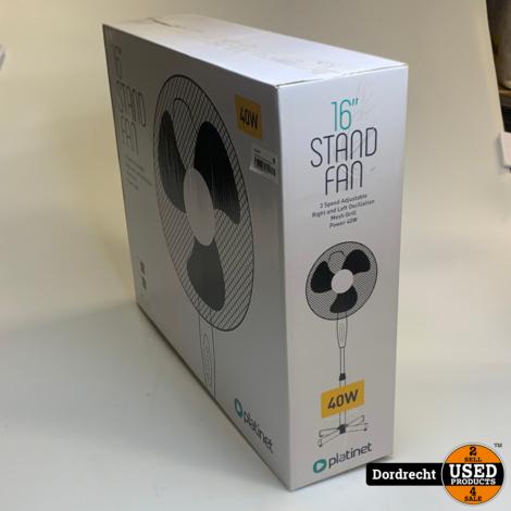 Platinet PSF1616 staande ventilator || Wit || 40W || NIEUW in doos || Met garantie
