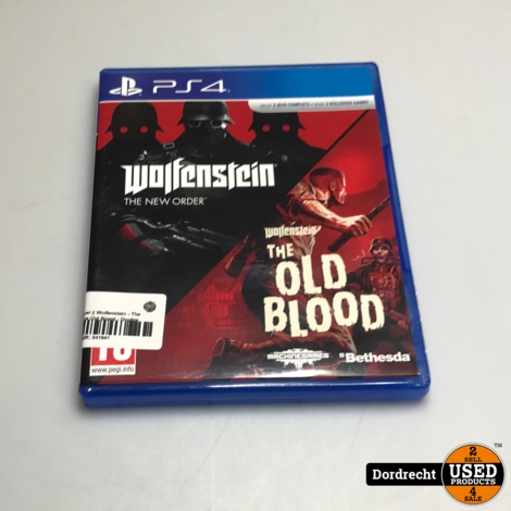 Playstation 4 spel || Wolfenstein - The New Order & The Old Blood - Double Pack