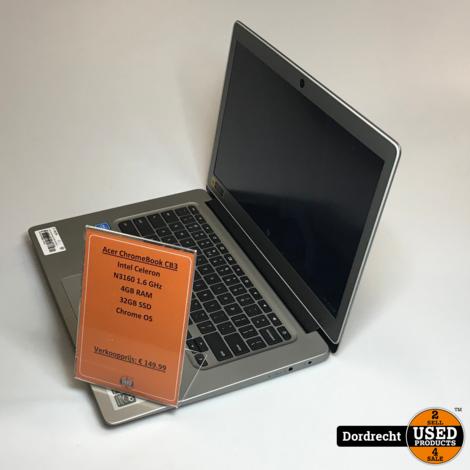 Acer Chromebook CB3-431-C5K7 | Intel 1.6GHz | 4GB RAM | 32GB SSD | Chrome OS | Met garantie
