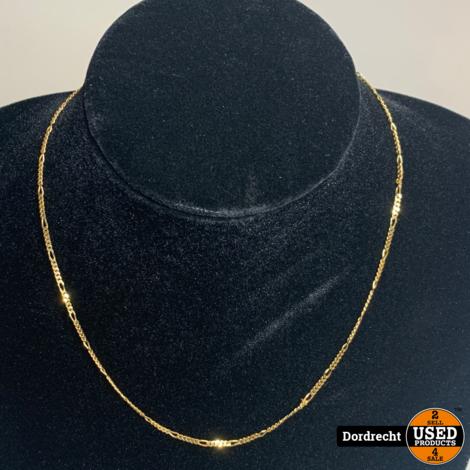 14 Karaat Gouden Schakel Ketting (5.3 gram) 45 cm || Met garantie