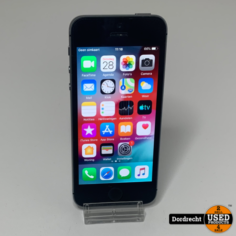 iPhone 5S 16GB Space Gray || Met garantie